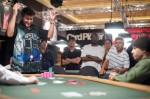2010 WSOP Event 27 Winner David Warga gets it in good and captures his 2nd WSOP Gold Bracelet.