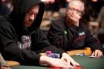 Eric Kesselman eyes down a fellow player