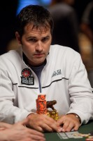 John 'Tex' Barch's card protector has also been protecting his chips
