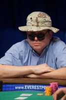 Darren Shebell waits for his opponent to act before deciding his next move.