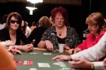 First Lady of Poker Linda Johnson plays a hand in the Ladies No-Limit Hold'em Championship