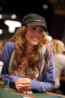 After almost cashing earlier in Event 17, Shannon Elizabeth looks to make a run in the Ladies Championship.