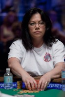 Allison Whalen at the final table of Event #22, Ladies No-Limit Hold'Em Championship.