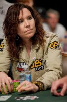 Annie Duke built up a decent chip stack on day one.