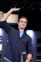 Event 42 Champion Dean Hamrick shows off his WSOP Bracelet