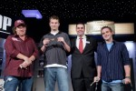 Gavin Smith, Ian Gordan, Jack Effel, and EV 42 Winner Dean Hamrick Pose for a picture at the June 27th Braclet Ceremony