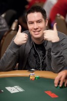 Grant Hinkle gives the thumbs up for his table draw.