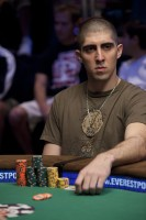 Joseph Elpayaa at the final table of Event #6, $5,000 No-Limit Hold 'Em Shootout.