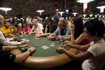 A star-studded table that includes the likes of Joe Sebok, Annette Obrestad and Liv Boeree, plays out a hand in Event #9.
