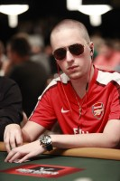 Jason Lavallee studies his opponents during event 5 of the World Series of Poker.