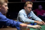 Neil Channing thinks about his next move as he plays Joshua Tieman heads up.