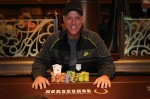 Winner of event #4, the $350 buy-in NLH shootout, Kevin Manley.