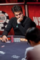 Fabrizio Baldassari representing for Italia at the 2010 WSOPE Main Event final table. Baldassari would go on to face James Bord heads up.