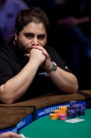 James Bord ponders over his next move at the final table.