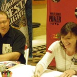 Things aren't all poker at the WSOP. Annie Duke and Norman Chad took time to have a competion, inspired by Duke's recent appearance on Celebrity Apprentice. The task? To sell as many cups of lemonade as they could with all proceeds going to charity.