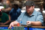 Jesse Rockowitz has a lot of chips and a steely poker face.  He ended up with the victory too.