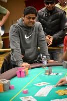 Manish Patel faces elimination at the WSOPC Harrah's AC Main Event final table