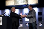 Steven Kelly receives his bracelet from Nolan Dalla.