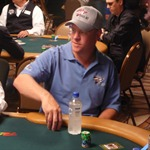 Erik Lindgren takes his seat at the start of Event #4 at the 2009 WSOP. Lindgren is just one of many pros who are attempting to go deep in the massive field.