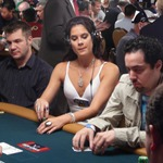 Tiffany Michelle, last year's last woman standing in the Main Event, was spotted playing the $1,000 event at the 2009 WSOP.