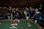 WSOP 2010 Event 5 Winner Praz Bansi celebrates with friends.
