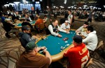 Pros Humberto Brenes, Eric Froehlich, Angel Guillen, and Jose Barbero all ended up at the same starting table in the 6-Handed No-Limit Hold'em event.
