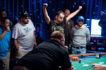 Steve Jelinek Celebrates his victory in Event 41, the 5th WSOP Gold Bracelet for the UK.