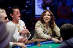 Scotty Nguyen and Annie Duke enjoy their time at the Feature Table
