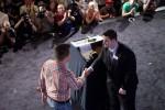 Valdemar Kwaysser shakes Jack Effel's hand before accepting his bracelet.