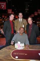 Main Event Champion, Abraham Araya, and Tournament Staff.