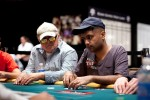 2010 bracelet winner, Praz Bansi, gets the business from his opponent.