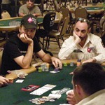 Daniel Negreanu (left), Barry Greenstein
