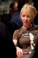 Isabelle Mercier representing the ladies at the 2010 WSOPE Main Event