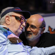 Henry Orenstein and  Mori Eskandani share words before the unofficial final table of Event 61