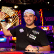 Michael Mizrachi holds aloft the David