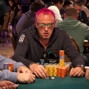 Guillaume Darcourt sits with his back to Patrick Poirier both have been high in the chip counts today, day 3 of the Main Event.