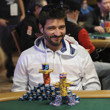 Pablo Rojas with a creative chipstack