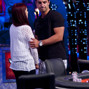 Marc Ladouceur gets a hug from Elisabeth Hille