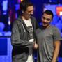 Winner Sean Getzwiller shakes the hand of Sadan Turker