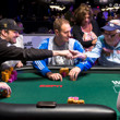 Phil Hellmuth telling Henry Orenstein he hopes he is playing poker as well as Henry does at his age