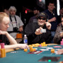 Phil Hellmuth shows Jon Turner the 4 of clubs, busting Jon out of the tournament