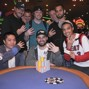 Kyle Cartwright winning his fourth gold ring along with AP Phahurat (right) who placed second. Picture courtesy of WSOP.