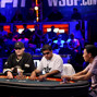 Phil Hellmuth, Owais Ahmed and Minh Ly