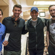 Jeff Gross, Michael Phelps, Antonio Esfandiari, Brian Rast