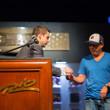 Jack Effel presents Brandon Wong with his gold bracelet
