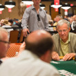 Shannon Shorr rails his father Scott Shorr (foreground) in the seniors event