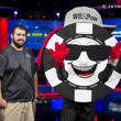 Chippy the WSOP Mascot with 2017 Main Event Winner Scott Blumstein