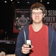 Sam Panzica after winning his ring. Photo courtesy of the WSOP.