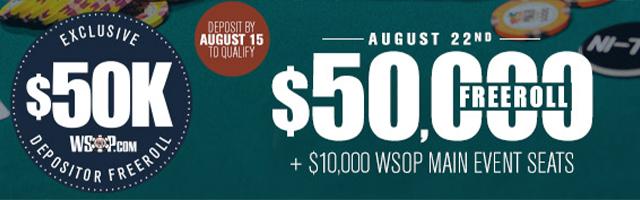 $50,000 Depositor's Freeroll