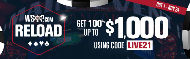 100% up to $1000 Reload